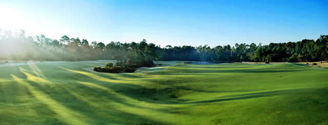 A view of the hole #16 at Orange Lake Resort - The Legends Course