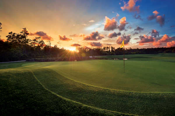 Sunset over the hole #16 at Orange Lake Resort - The Legends Course
