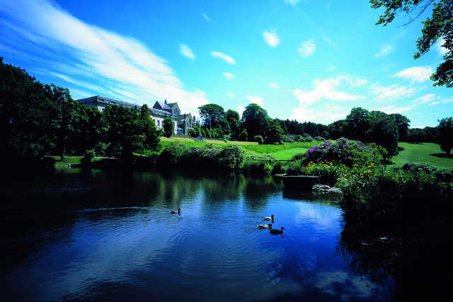 A view over the water from Shrigley Hall Hotel, Golf & Country Club