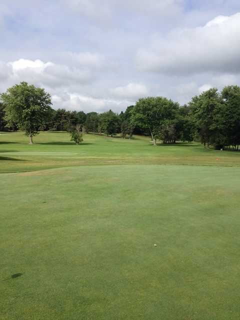 A view from a tee at Kresson Golf Club