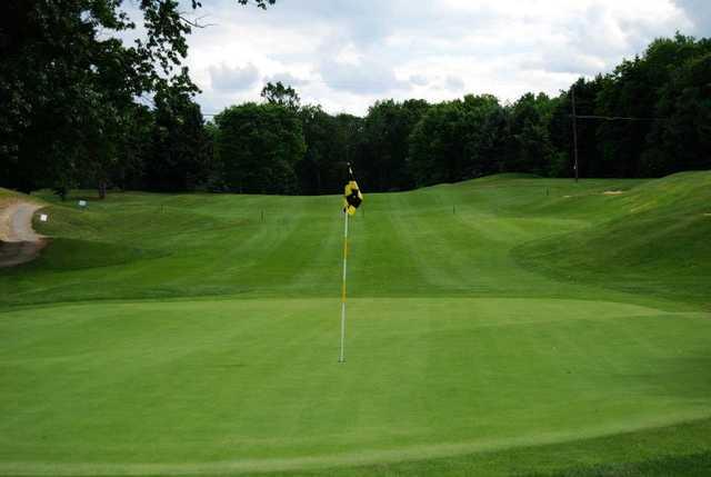 A view of the 3rd green at Pheasant Ridge Golf Club