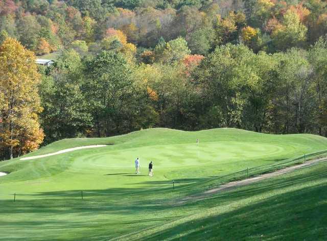 A view of green #12 at Pheasant Ridge Golf Club