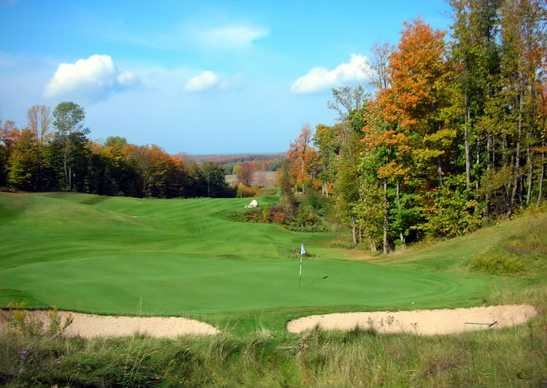 A view of a green at Dunmaglas Golf Course