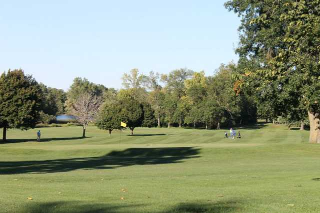 A view of a green at South Park Golf Course