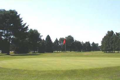 A view of a green at Birch Plain Golf Course