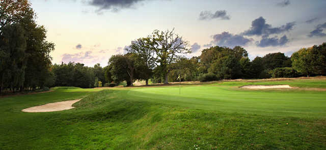 A view of the 16th green at Stoneham Golf Club
