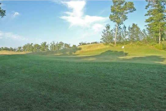 A view of a green at Crystal Lake Golf Club