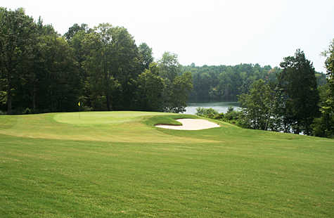 A view of the 3rd green from Bear Trace at Harrison Bay State Park