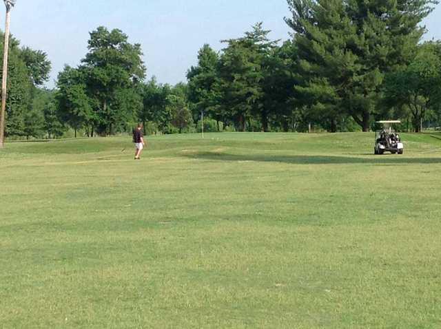 A view of a green at Riverside Golf Center
