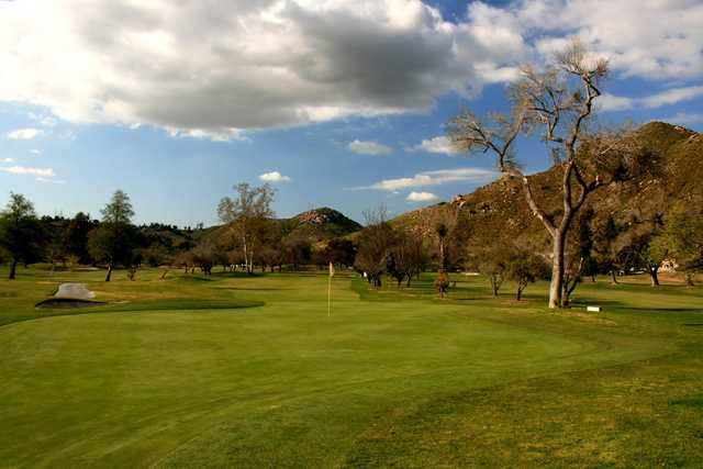 Oak Glen from Singing Hills Golf Resort at Sycuan: A view from the 2nd hole showcasing the narrow fairway.