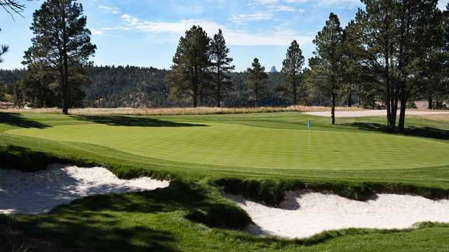 A view of a green from the Golf Club at Devils Tower