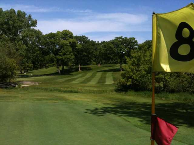 A view from green #8 at Twin Lakes Country Club