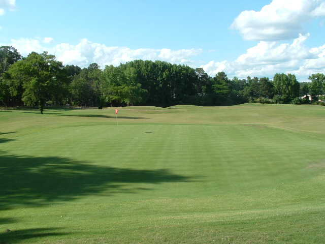 A view of the 3rd green at Chairman's Course from First Tee of Central Arkansas