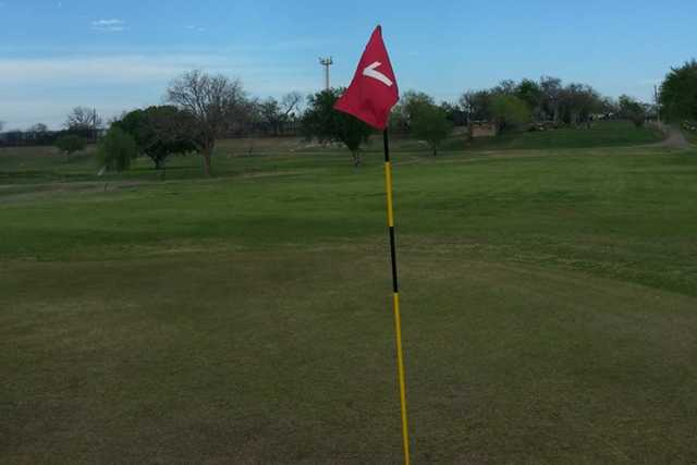 A view from green #1 at Eagle Pass Golf Course