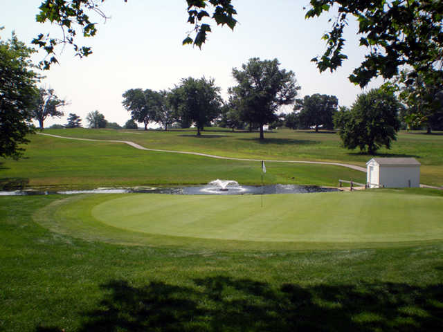 A view of the 8th hole at Jeffersonville Golf Club