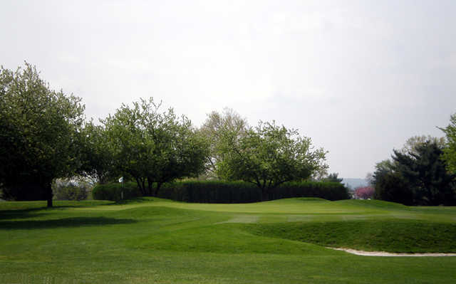 A view of the 12th hole at Jeffersonville Golf Club