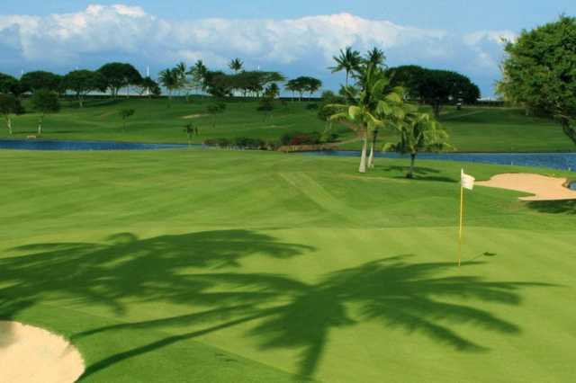 A view of a green at Kapolei Golf Club
