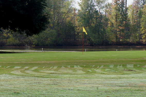 A view of a green at Meadow Lake Golf Club