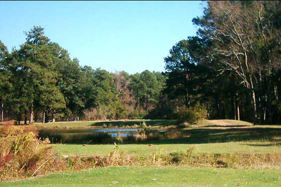 A view from a tee at Meadow Lake Golf Club