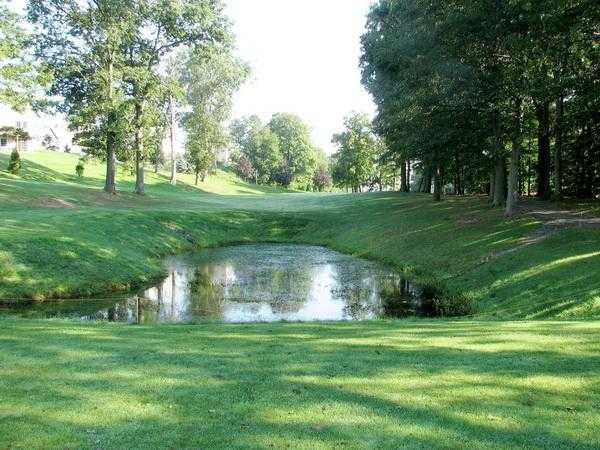A view over the water from Rolling Greens Golf Course