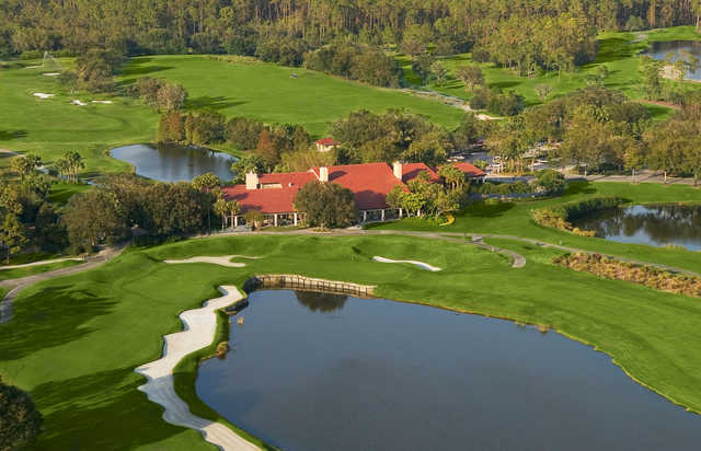 Aerial view of the clubhouse at Grand Cypress Resort