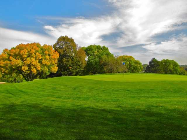 A view of a green at Benson Park Golf Course.