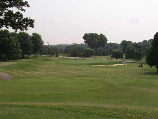 A view from a tee at Willow Creek Golf Club