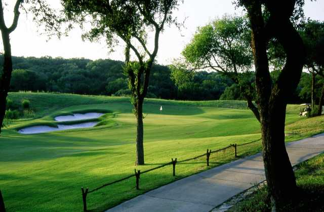 A view of a green at Twin Creeks Country Club