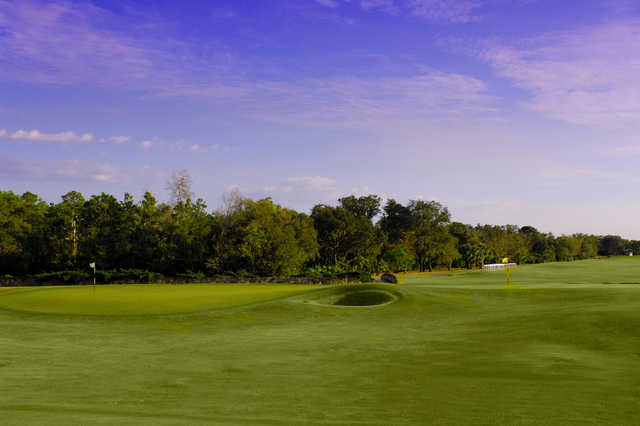 A view of the 1st and 17th green from the new course at Grand Cypress Resort
