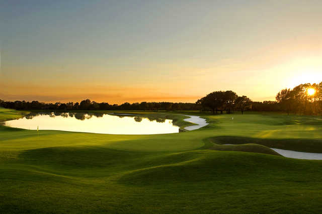 A view of the 9th and 18th holes at North South course at Grand Cypress Resort