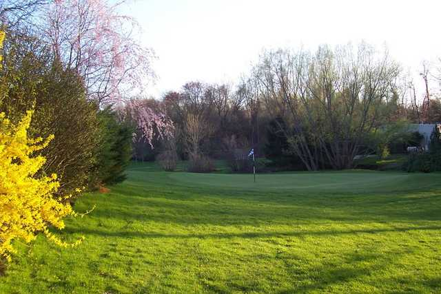A spring view of a hole at Grassmere Country Club
