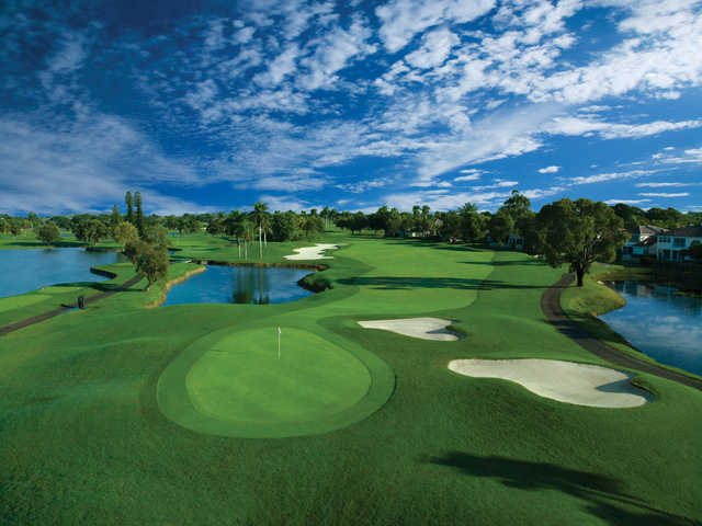 View of a green from the Red Tiger Course at Trump National Doral Miami