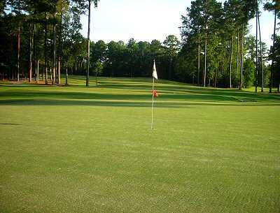 A view of the 4th green at Hidden Cypress Golf Club