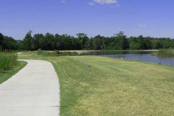 A view of tee #12 at Crystal Lakes Golf Course