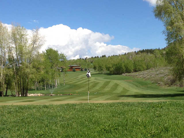 A view of a  green at Cedar Creek from Star Valley Ranch Country Club