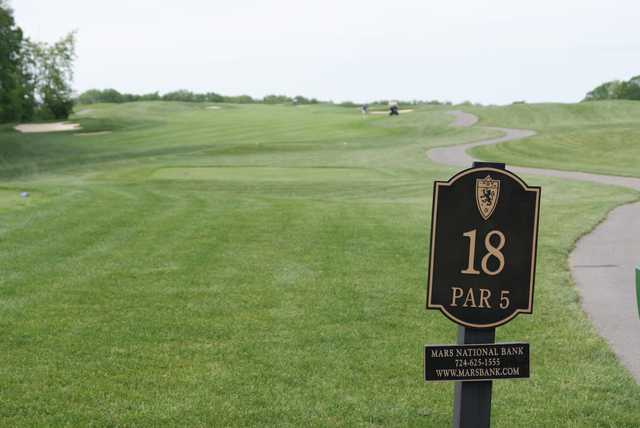 A view from tee #18 at Cranberry Highlands Golf Course