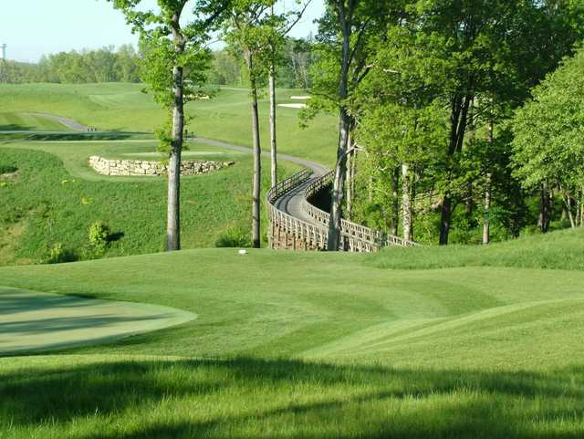 A sunny day view from Cranberry Highlands Golf Course