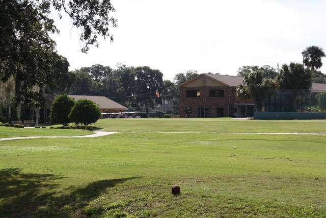 A view from a tee at Tomoka Oaks Golf & Country Club