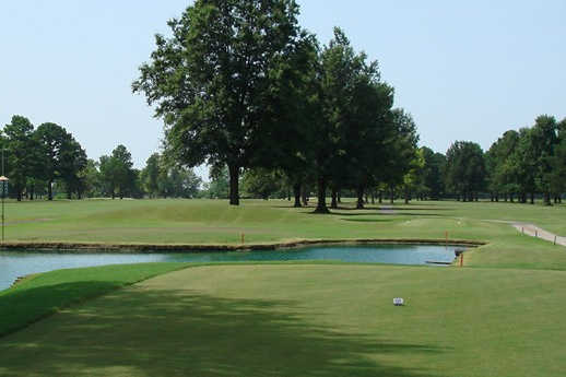A view from a tee at Meadowbrook Country Club