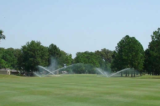 A view from a fairway at Meadowbrook Country Club