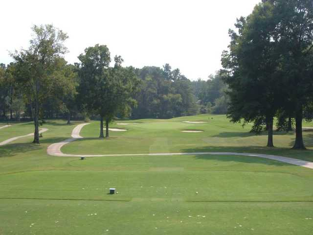 A view from a tee at Memphis National Golf Club