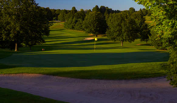 A view of a green from The Summit at Shanty Creek