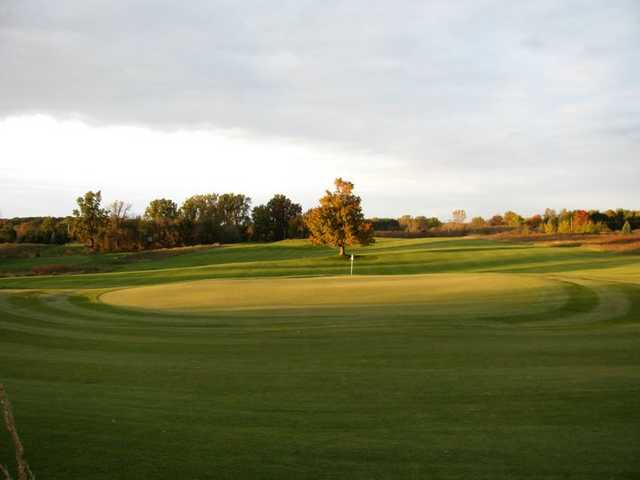 A view of green #9 at College Fields Golf Club