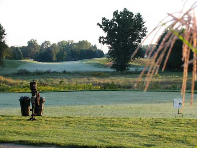 A view of  the 10th tee at College Fields Golf Club