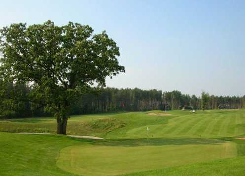 A view from the 18th green at Timber Trace Golf Club