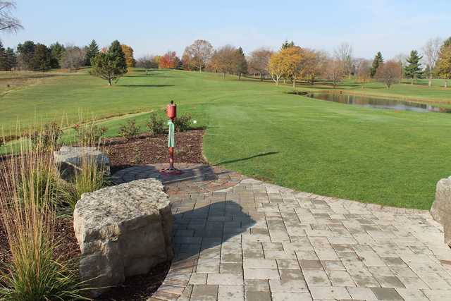 A view of a tee at Bonnie View Golf Course