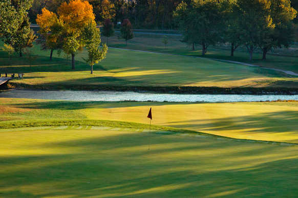A view of a hole at Lake Shawnee Golf Course