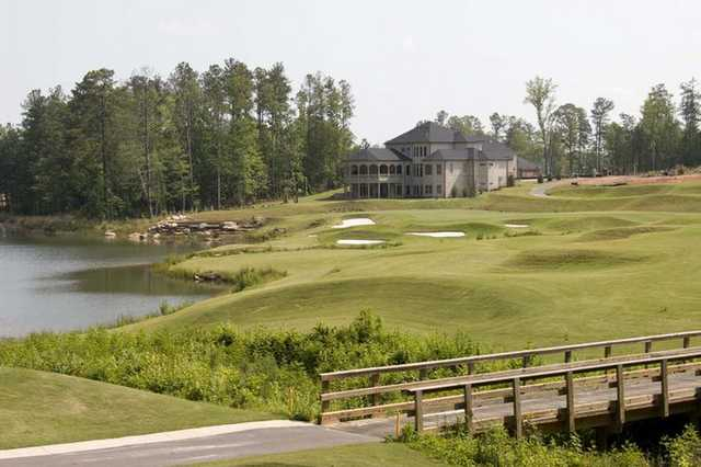 A view from Crystal Lake Golf & Country Club with clubhouse in background
