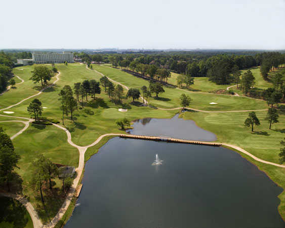 Aerial view from City Club Marietta