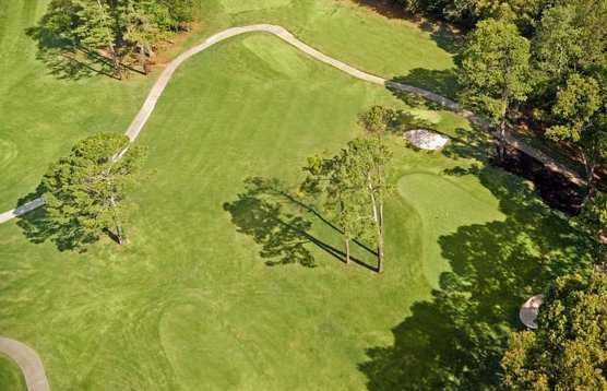 Aerial view of hole #17 at City Club Marietta